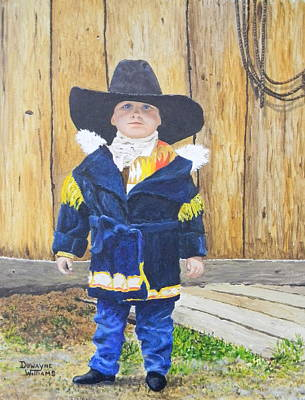 Painting - I'm A Cowboy by Duwayne Williams