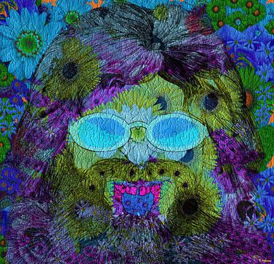Im A Hippie Man Art Print by Robert Matson