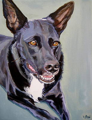 Cattle Dog Painting - I'm All Ears by Kellie Straw