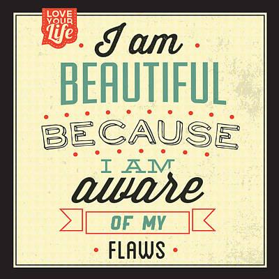 Fun Digital Art - I'm Beautiful by Naxart Studio