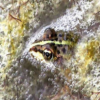 Painting - I'm Forever Blowing Bubbles Cute Frog by Tracey Harrington-Simpson
