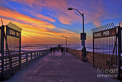 Photograph - I'm Glad I Made It Out To The Ocean Beach Pier by Sam Antonio Photography
