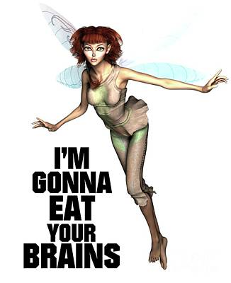 Bikini Digital Art - I'm Gonna Eat Your Brains by Esoterica Art Agency
