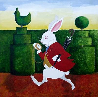Alice In Wonderland Painting - I'm Late by Anni Morris