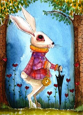 Alice In Wonderland Painting - I'm Late by Lucia Stewart
