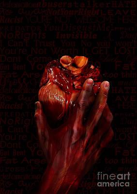 Wall Art - Digital Art - I'm Not A Bleeding Heart by Julie Clyde