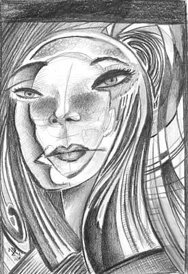 James Parker Drawing - Im Ok..... by James Parker
