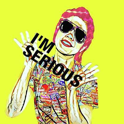 Pop Art Wall Art - Photograph - I'm Serious. #アート by Takashi Nishimura