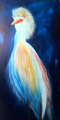 Cattle Egret Painting - Im The Boss by Roger Asselin