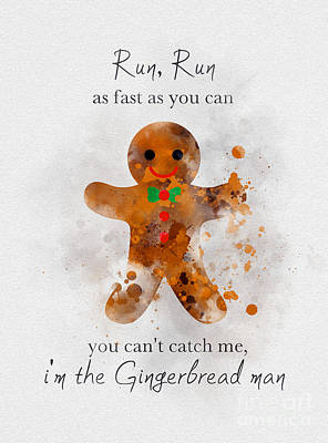 Childrens Art Mixed Media - I'm The Gingerbread Man by Rebecca Jenkins