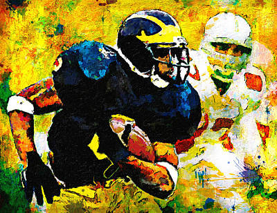 Oakland Raiders Painting - I'm The Man At The Big House by John Farr