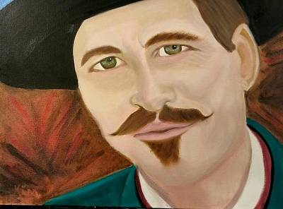 Val Kilmer Wall Art - Painting - I'm Your Huckleberry by Kimberly Smith