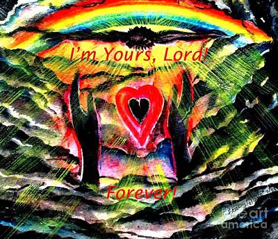 Painting - I'm Yours Lord  by Hazel Holland