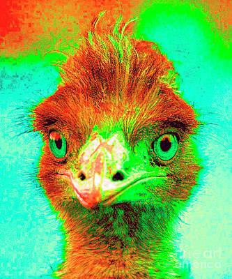 Emu Digital Art - Ima-emu by Maureen Tillman
