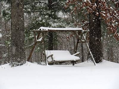 Snow Covered Swing Print by John Myers