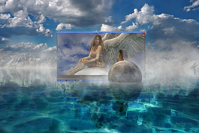 Reflecting Water Digital Art - Image by Betsy Knapp
