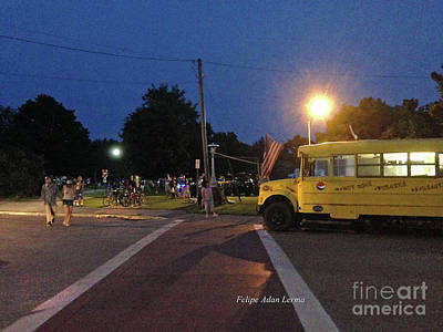 Photograph - Image Included In Queen The Novel - Beansie Bus Waterfront Park Enhanced by Felipe Adan Lerma