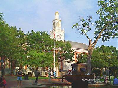 Photograph - Image Included In Queen The Novel - City Hall Park Enhanced by Felipe Adan Lerma