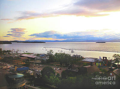 Photograph - Image Included In Queen The Novel - Lake Champlain Waterfront From High Enhanced by Felipe Adan Lerma