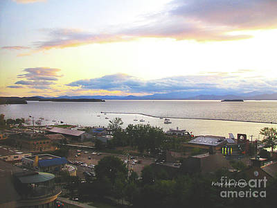 Photograph - Image Included In Queen The Novel - Lake Champlain Waterfront From High by Felipe Adan Lerma
