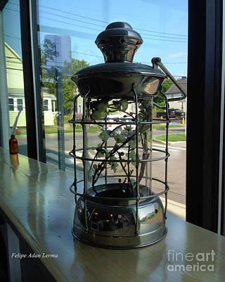 Photograph - Image Included In Queen The Novel - Lantern In Window 19of74 Enhanced by Felipe Adan Lerma