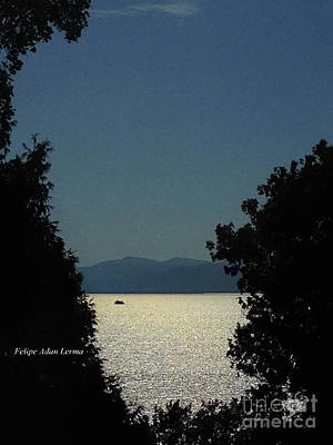 Rights Managed Images Photograph - Image Included In Queen The Novel - Light On Lake Champlain 20of74 Enhanced by Felipe Adan Lerma