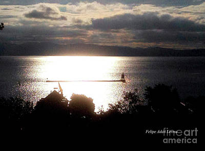 Photograph - Image Included In Queen The Novel - Lighthouse Contrast by Felipe Adan Lerma