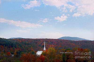 Photograph - Image Included In Queen The Novel - New England Church Enhanced by Felipe Adan Lerma