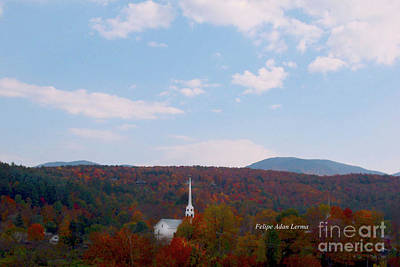 Photograph - Image Included In Queen The Novel - New England Church by Felipe Adan Lerma