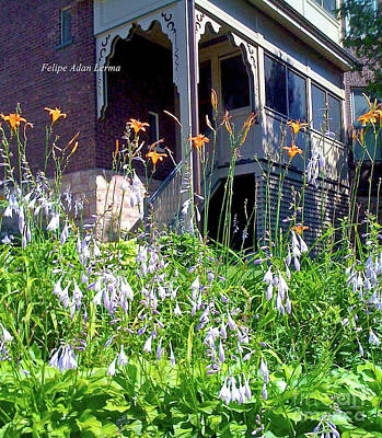 Photograph - Image Included In Queen The Novel - New England Victorian House Enhanced by Felipe Adan Lerma