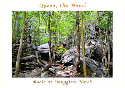 Photograph - Image Included In Queen The Novel - Rocks At Smugglers Notch Enhanced Poster by Felipe Adan Lerma