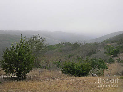 Photograph - Image Included In Queen The Novel - Texas Hill Country Enhanced by Felipe Adan Lerma