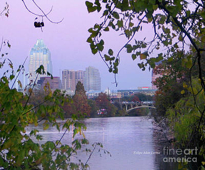 Photograph - Image Included In Queen The Novel - View Of Austin Through The Trees by Felipe Adan Lerma