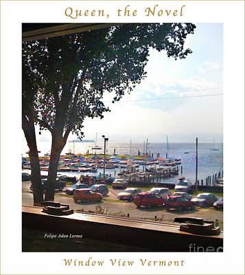 Photograph - Image Included In Queen The Novel - Window View Vermont Enhanced Poster by Felipe Adan Lerma
