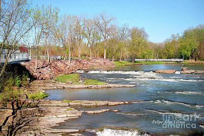 Rights Managed Images Photograph - Image Included In Queen The Novel - Winooski River Rocks 21of74 Enhanced by Felipe Adan Lerma