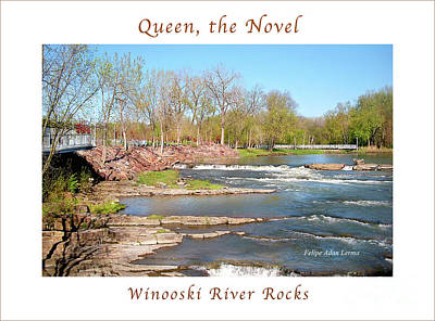 Rights Managed Images Photograph - Image Included In Queen The Novel - Winooski River Rocks 21of74 Enhanced Poster by Felipe Adan Lerma