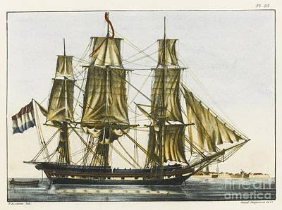 Comte Painting - Image Of Dutch Vessel by MotionAge Designs