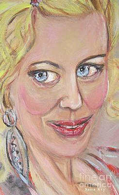 Painting - image of Glamorous Woman by Oksana Semenchenko