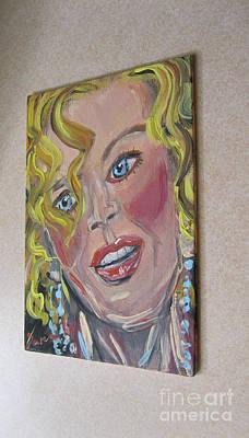 Painting - image of Painting Only Nicole, golden.... by Oksana Semenchenko