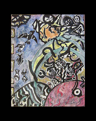Collective Unconscious Painting - Images From The Collective Unconscious by Mimulux patricia no No