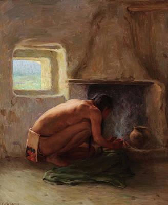 Laguna Pueblo Painting - Images Of Dawn by Joseph