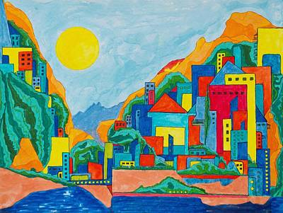 Representative Abstract Painting - Images Of Italy by David Raderstorf