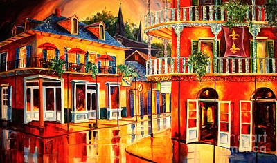 New Orleans French Quarter Wall Art - Painting - Images Of The French Quarter by Diane Millsap