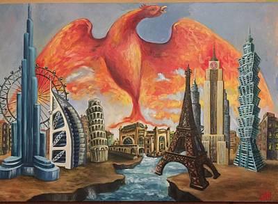 London Eye Painting - Imaginarium by Luca Maiorescu