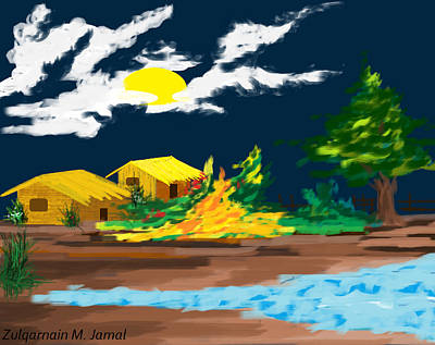 Beauty Of The Village Of Bangladesh Original by Zulqarnain Jamal