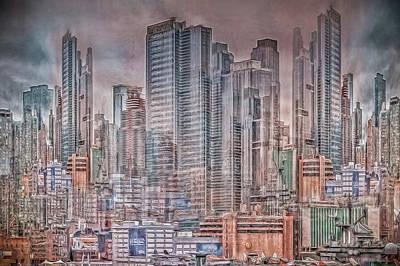 Photograph - Imaginary City by Elvira Pinkhas