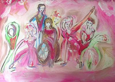 Wheelchair Painting - Imaginary Dance Theatre by Judith Desrosiers