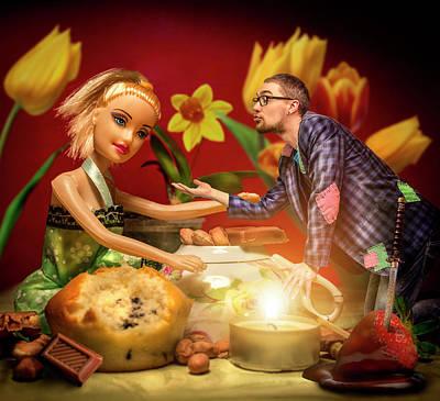Cute Cupcakes Digital Art - Imaginary Girlfriend by Ausra Kel