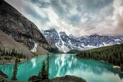 Moraine Lake Photograph - Imaginary Lake by Jon Glaser