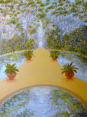 Painting - Imaginary Landscape by Miguel A Chavez